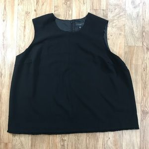 Victoria Beckham Black Fringe Top Size 3X NWT